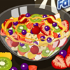 Fruit salad is a dish consisting of various kinds of fruit, sometimes served in a liquid, either in their own juices or syrup. When served as an appetizer or as a dessert, a fruit salad is sometimes known as a fruit cocktail or fruit cup. In this game you will learn in few minutes to cook a nice, simple, tasty and healthy fruit salad!