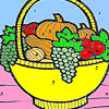 Fruit basket in the kitchen coloring Game.