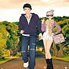 New couple on the road dress up A Free Dress-Up Game