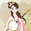 Chinese Musician Girl Dress up game.