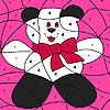 Funny lovely panda coloring