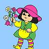 Garden fairy coloring Game.