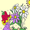 Sweet fairy and blossoms coloring