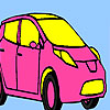 Pink personal car coloring Game.