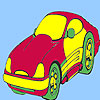 Concept style car coloring Game.