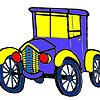 Historical village car coloring