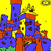 Blue castle coloring Game.