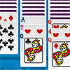 Play Free Online Solitaire flash game for fun. The game is also available for download to be played offline. Have fun while arranging the cards in their places.