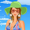 Girls, summer has come and I decide to have a vacation on a beautiful island. Let`s help me dress up with cute bikinis. And enjoy your summer time!