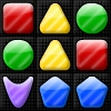 More shape matching fun with 25 brand new levels! Swap the shapes to match 3 or more, and clear all black squares to clear the level! There's even a level editor to make your own challenging levels.