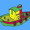 Ocean boat coloring
