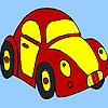 Red little turtle car coloring