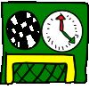 Soccer goal against time