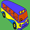 Modern school bus coloring