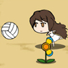Life goes down when the cat attacks the flowers.  The volleyballs get supplied automatically once in a while during the game.  You cannot throw the balls if you do not have the volleyballs.