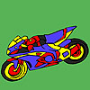 Fascinating motorbike coloring