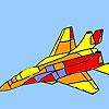 Modern war plane coloring