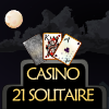 Solitaire Casino 21 is a very simple game!  All you need to do is turn the cards in order to make horizontal or vertical blackjack combos. This means you should try to get the addition of rows or columns to reach 21 or 20. If you go over that number, your points will go down.  Enjoy!