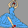 Grand dancer girl coloring