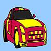 Red racing car coloring