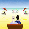 Modern  Beach kiss A Free Action Game