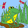 Frog and dragonflies coloring Game.