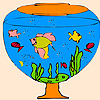 Little aquarium fishes coloring Game.