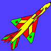 Bright Air Force plane coloring