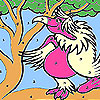 Lady pink parrot coloring A Free Customize Game