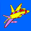 High performance airplane coloring