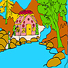 Fisherman and mountain home coloring