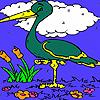 Mountain heron coloring Game.