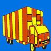 Long road truck coloring