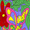 Funny pink butterfly coloring A Free Customize Game