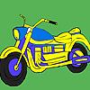 Cross road  motorcycle coloring