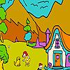 Big jungle love coloring Game.