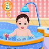 Sweet Baby Bathing A Free Dress-Up Game
