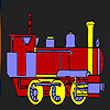 Long carriage coloring Game.
