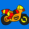 Small colorful motorbike coloring