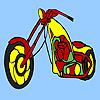 Long street motorcycle coloring
