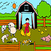 Lambs farm coloring