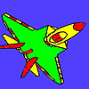 Yellow jet coloring A Free Customize Game