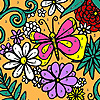 Assorted flowers garden coloring