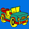 Open top jeep coloring Game.