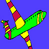 Interesting airplane coloring A Free Customize Game