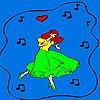 Happiest dancer coloring