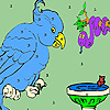 Blue parrot and friends coloring