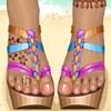 Hot Beach Sandals A Free Dress-Up Game
