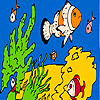 Fishes and sea ??sponges coloring