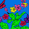 Hungry butterflies coloring